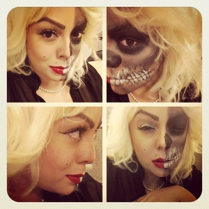 Half dead Marilyn Monroe