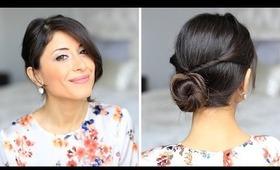Double Twisted Bun Hair Tutorial