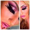 Pink Glitter Cut-Crease