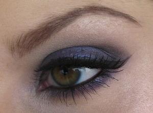 A tutorial look I did - Navy Blue Smokey Eye