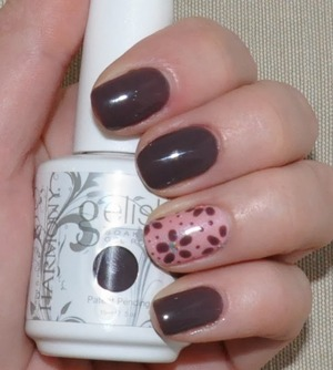 Gel polish- Gelish Lust at first sight. For info please visit my blog.
