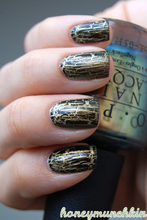 OPI - Just Spotted The Lizard IsaDora Graffiti Nails - 801 Black Tag