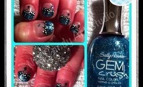 Tealish~Blue Glitter Butterfly Wings.