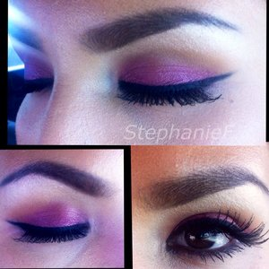 Pop of purple but very wearable daytime look!