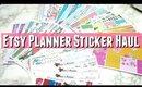 Etsy planner sticker haul feat MooseandMittens and EllePlan, Etsy planner stickers for Erin Condren