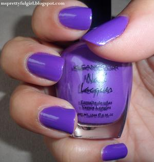 Kleancolor Nail Lacquer in 16 Neon Purple. http://msprettyfulgirl.blogspot.com/2012/02/just-another-mani-monday-kleancolor_20.html