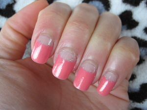 Barbie pink! I squared my nails, not sure whether I like this better? At least they're (supposed to be) stronger (my thumbnail broke off..).