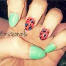 Cheetah stiletto nails