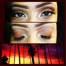 Tropical Sunset Make-up Look