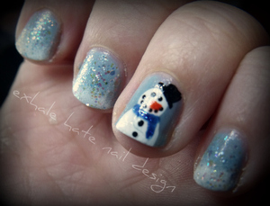 snow and snowman
