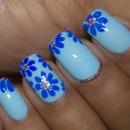 Pastel Blue Flowers