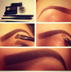 Small pictutorial on how I do my brows