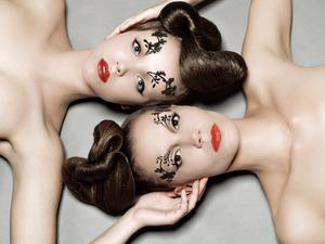 floral eyebrow stencils