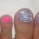 Pink crystal toes