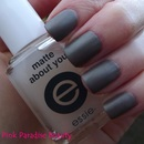 Leighton Denny Amazing Grey with Essie Matte About You on Top