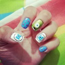 My monsters Inc Nails