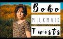 Boho Milkmaid Twists Hair Tutorial | NO HEAT & SUPER EASY!