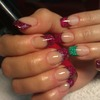Two colours french nails