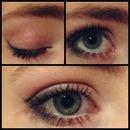 Black and pink eyeshadow