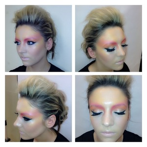 Avant garde makeup and hair :-)