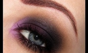 Dark Purple Smokey Eye makeup tutorial