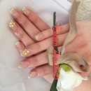 glittery heart gel enhancements