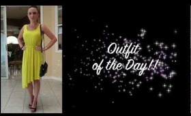 OUTFIT OF THE DAY! LIME GREEN DRESS!!