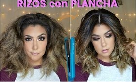 💈 RIZOS  con PLANCHA / 👑Curly Wavy Hair with Hair Straightener| auroramakeup