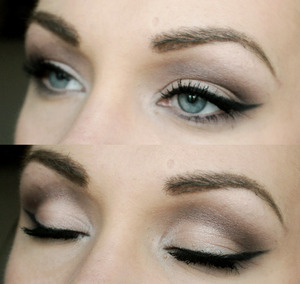 Easy everyday look with a little longer winged liner :)