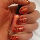 Orange/Black Striped