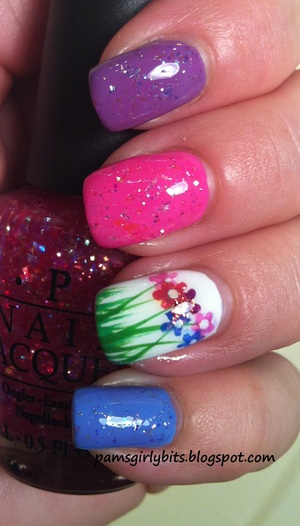 flowers nail art 141