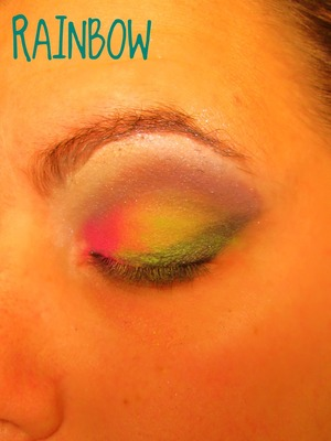 me practicing makeup to do on my friend for Halloween shes going to be a unicorn