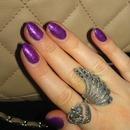 Barney Purple Glitter Nails