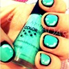 Light green cartoon Nails