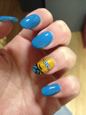 Despicable Me Minion Nails. Got a lot of love for minions lol