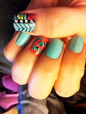 My nails done by me :)