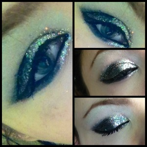 I have glitter to clean up! But this is a fun prom/club look! Or if you're me, 4 o clock in the afternoon look :p
