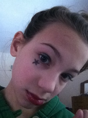 Use eyeliner to draw a star or heart right under or beside the eye