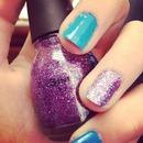blue n purple sparkles