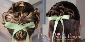 How to do a shamrock hairdo using twist braids.