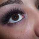 A Fun Purple look with False Lashes