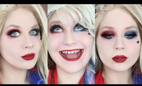 Harley Quinn Dramatic Smokey Eye Makeup Tutorial DC COMICS 2020 | Lillee Jean