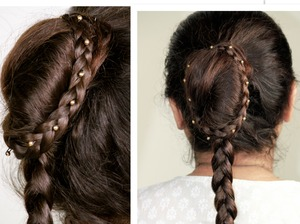 Video Tutorial -http://www.youtube.com/watch?v=J1yFUOKxweg This is an easy bridal hair bun and braid together..A sophisticated combination but supereasy to do..