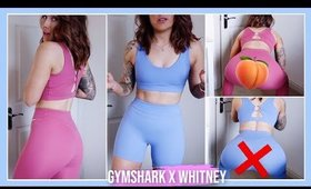 GYMSHARK X WHITNEY SIMMONS TRY-ON | REVIEW + SQUAT TEST