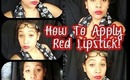 TIP TUESDAY... on a Wednesday: How to do an easy red lip, Perfect for Fall & Winter looks