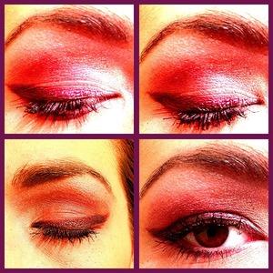 Simple pink smokey eye