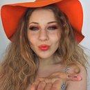 Glittering Copper & Vibrant Orange