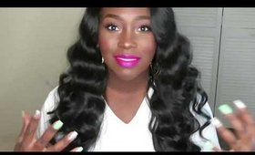 Virgin hair dupe. Freetress Equal Letty wig.