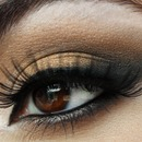 Bridal look with fun lashes