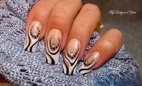 Amazing Black and White French Nail Art Design Tutorial - ♥ MyDesigns4You ♥